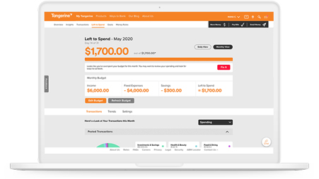 Screenshot of Left to Spend, a Money Management Tool