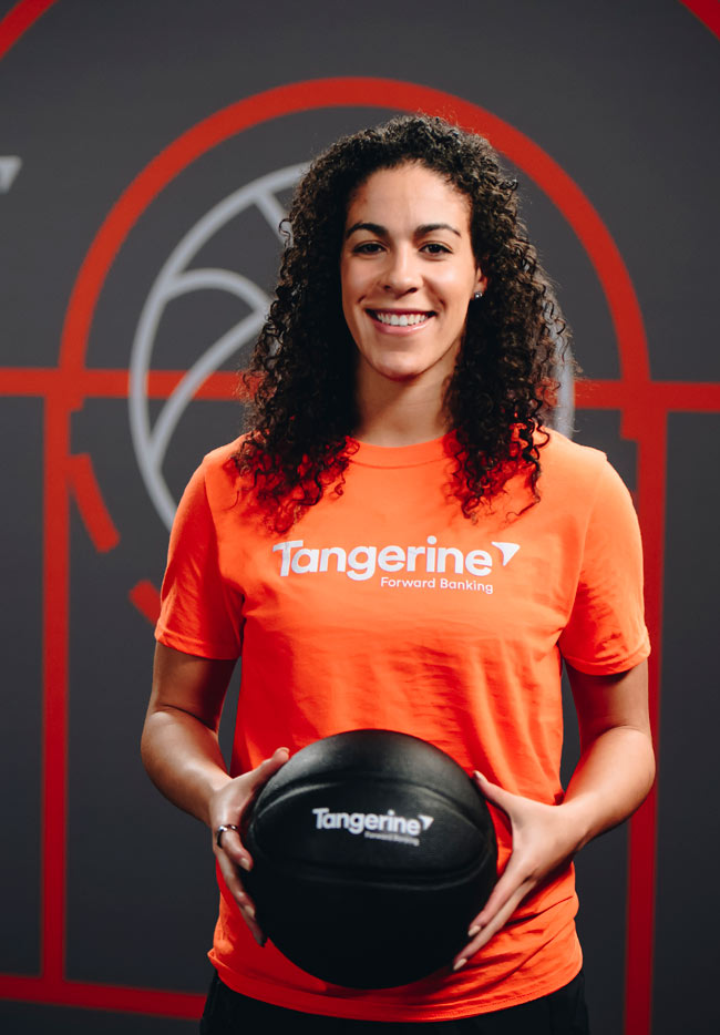 Tangerine partners with WNBA all-star, Kia Nurse, as a Tangerine Champion to help empower communities through youth in sport.