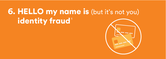 6. Hello, my name is (but it's not you) identity fraud